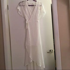 White Rehearsal Bridal Baby Shower Dress